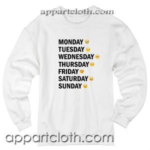 Days Emotion Funny Unisex Sweatshirt