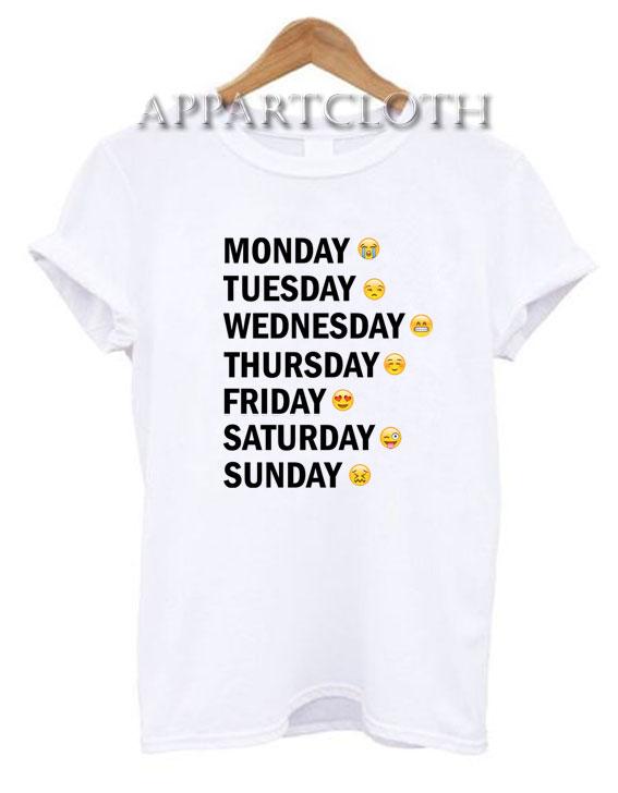 Days Emotion Funny Funny Shirts