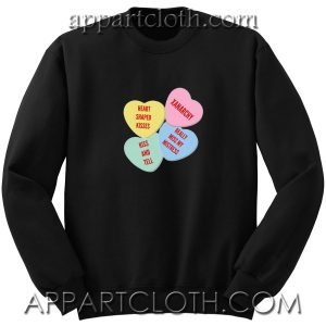 Heart Shaped Kisses Unisex Sweatshirt
