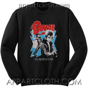 David Bowie 1972 World Tour Unisex Sweatshirt