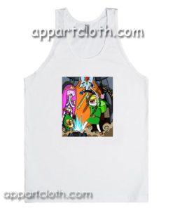 Adventure time x the legend of zelda Adult tank top