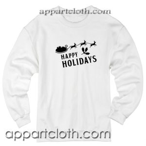 Christmas Happy Holiday Quote Unisex Sweatshirt