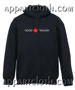 GOOD ENOUGH Red Rose Hoodie
