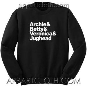 Archie comics betty veronica and jughead Unisex Sweatshirts