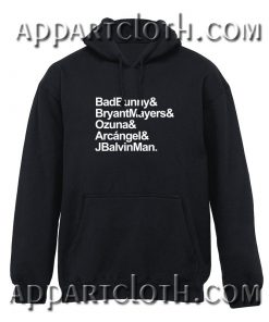 Bad Bunny Bryant Mayers Ozuna Arcangel and J Balvin Man Hoodies Hoodies