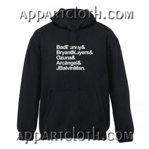 Bad Bunny Bryant Mayers Ozuna Arcangel and J Balvin Man Hoodies Hoodies