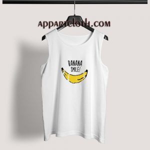 Banana Smile Adult tank top