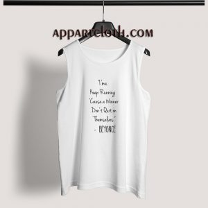 Beyonce Quotes Adult tank top