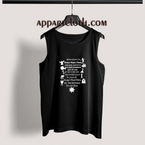 Disney Quote Never Grow Up Adult tank top