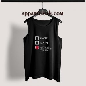 Game of thrones – Waiting For A Blonde With 3 Dragons Adult tank top