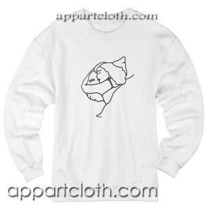Love Sleeping Hug You Pillow Unisex Sweatshirts