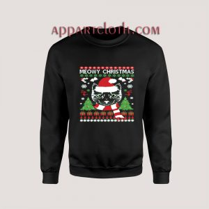 Christmas Meowy cat Ugly Unisex Sweatshirts