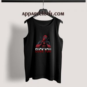 Deadpool Fuck You Love You Adult tank top