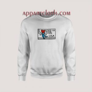 Keith Haring Love USA Unisex Sweatshirts