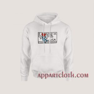Keith Haring Love USA Hoodies
