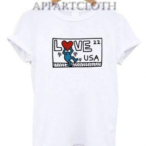 Keith Haring Love USA Funny Shirts