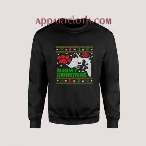 Meowy cat Ugly Christmas Unisex Sweatshirts