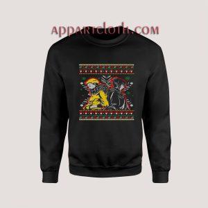 Naruto and sasuke ugly christmas Unisex Sweatshirts