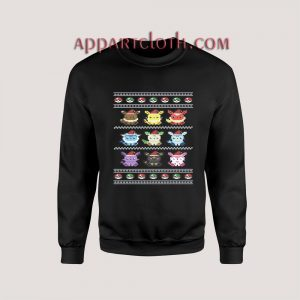 Pokemon Funny Ugly Christmas Red Unisex Sweatshirts