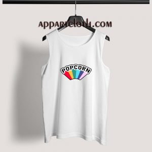Popcorn Rainbow Adult tank top
