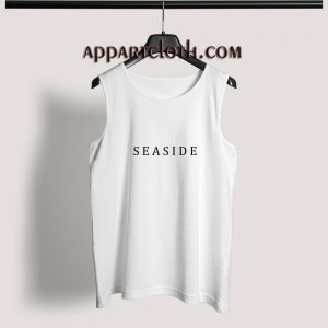 Seaside Font Adult tank top