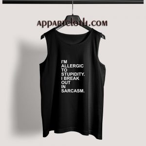 Allergic Stupidity Adult tank top