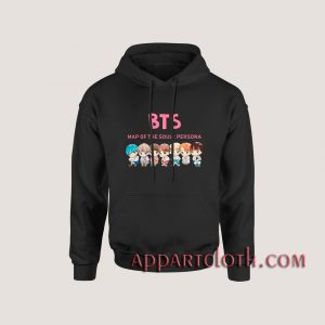 KPOP BTS CHIBI MAP OF THE SOUL Hoodies
