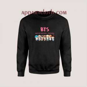 KPOP BTS CHIBI MAP OF THE SOUL Unisex Sweatshirts