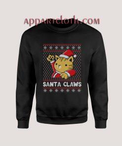 Kitty Claws ugly christmas Unisex Sweatshirts