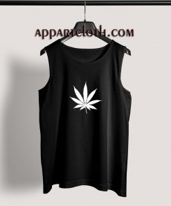Marijuana Cannabis Leaf Adult tank top