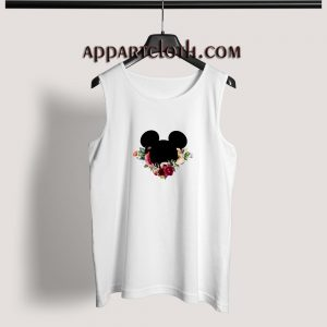 Mickey Mouse Flower Adult tank top