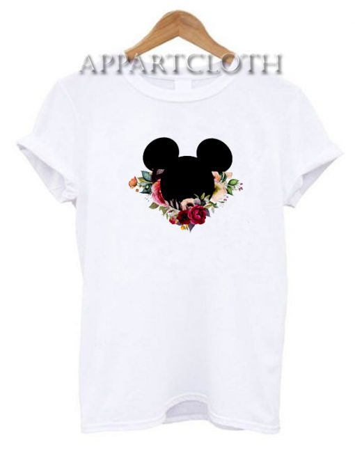 Mickey Mouse Flower Funny Shirts