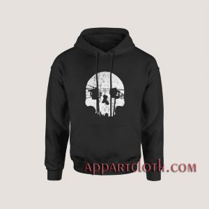 Optical Illusion Los Angeles Echo Park Skull Hoodies