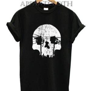 Optical Illusion Los Angeles Echo Park Skull Funny Shirts