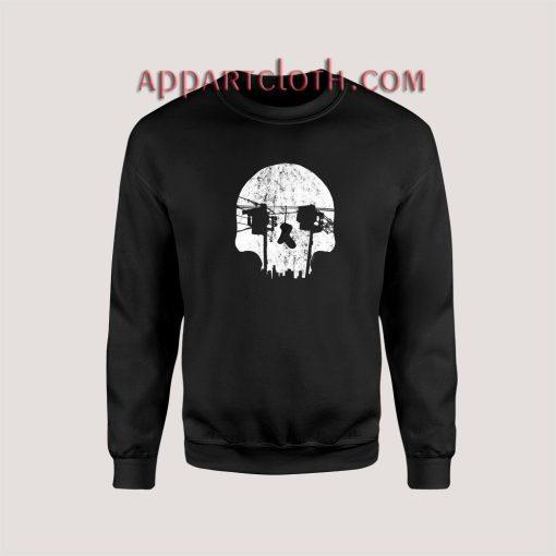Optical Illusion Los Angeles Echo Park Skull Unisex Sweatshirts