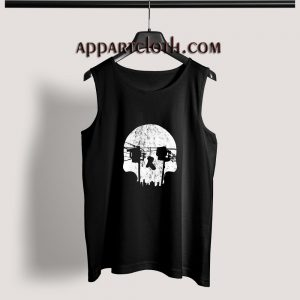 Optical Illusion Los Angeles Echo Park Skull Adult tank top