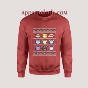 Pokemon ugly Christmas Red Unisex Sweatshirts