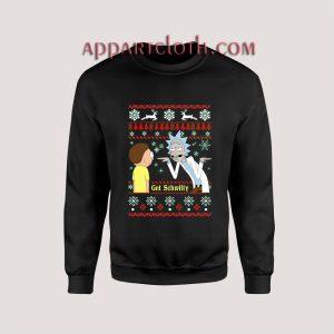Rick And Morty Get Schwifty Ugly Christmas Unisex Sweatshirts