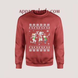 Rick and Morty Dancing Ugly Christmas Unisex Sweatshirts