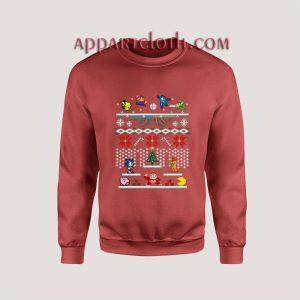 Super Smash Bros Ugly Christmas Unisex Sweatshirts