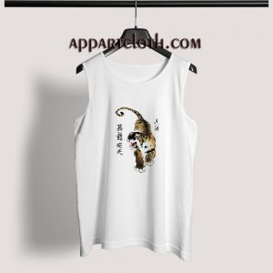 Tiger Chinese Art Adult tank top