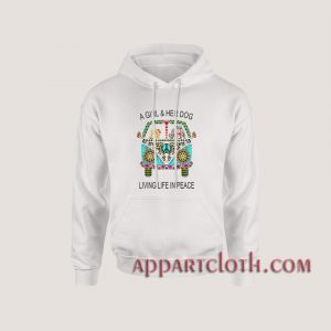 a girl and her dog living in peace Hoodies