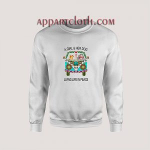 a girl and her dog living in peace Unisex Sweatshirts