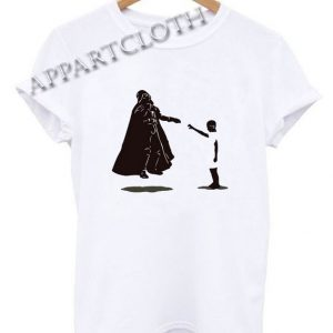 Eleven vs darth Vader star Wars Stranger Things Funny Shirts