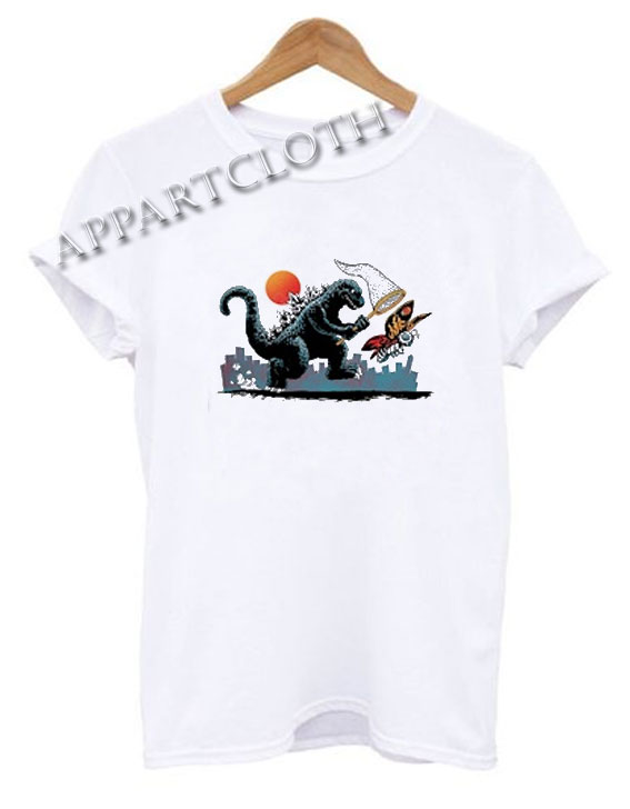 Godzilla Catching Mothra Funny Shirts