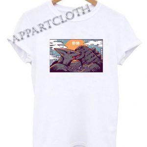 Kaiju Kiss Godzilla Funny Shirts