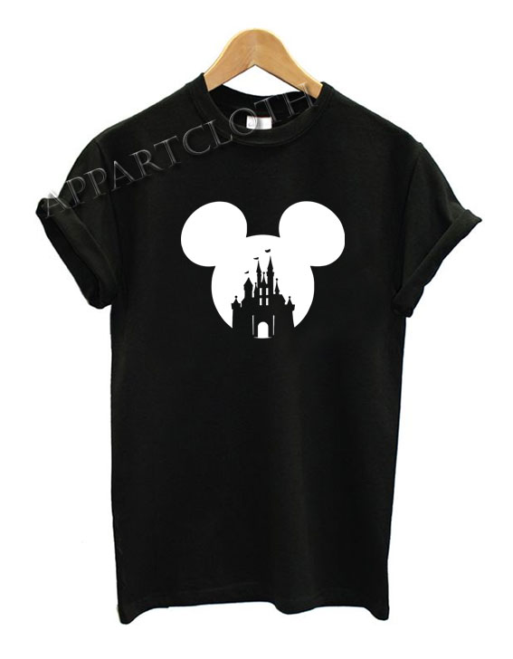Mickey Head Castle Funny Shirts