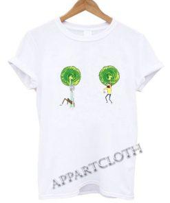 Ricky and Morty Boob Warp Portals Funny Shirts