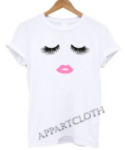 Sincerely Jules Lips and Lashes Funny Shirts
