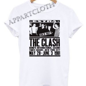 The Clash 1981 Poster Funny Shirts